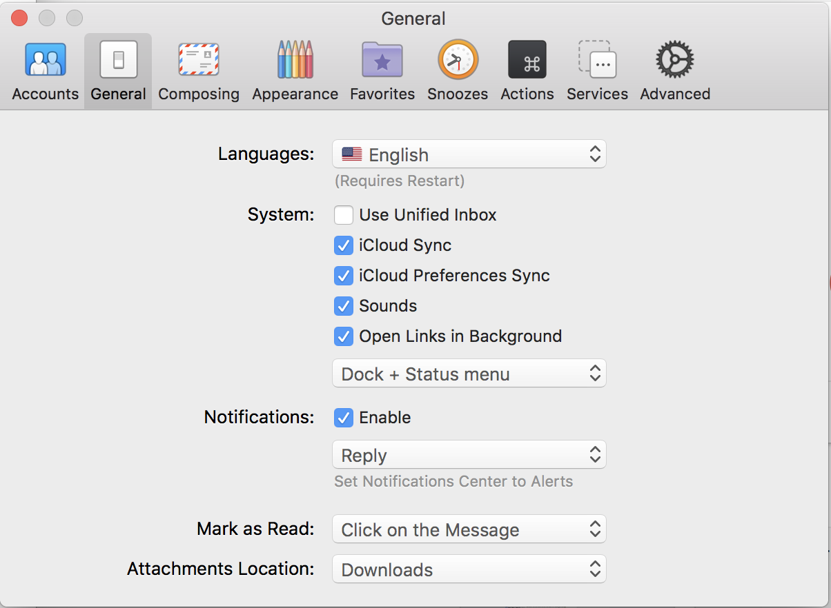 airmail 3 review general settings