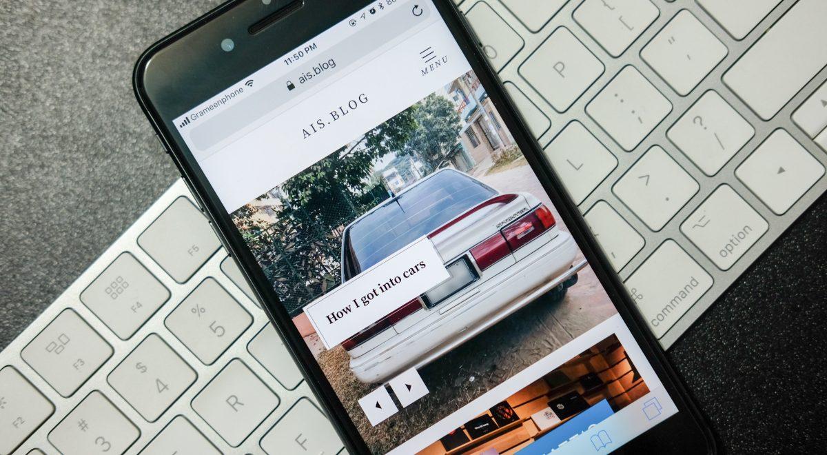 wordpress blog on iphone 8 plus