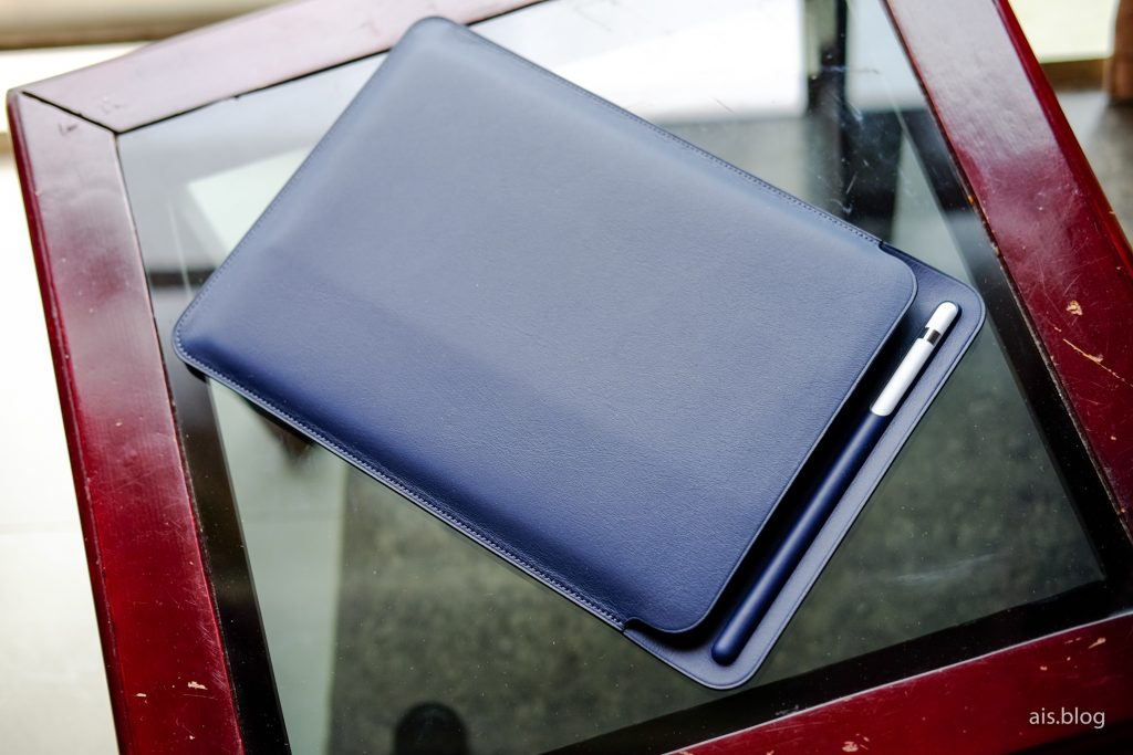 iPad Pro 10.5-inch with leather sleeve