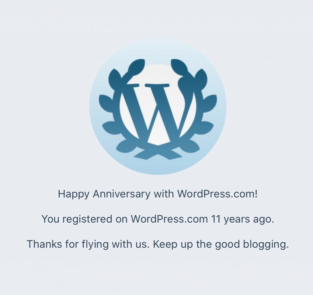 11 years on wordpress.com