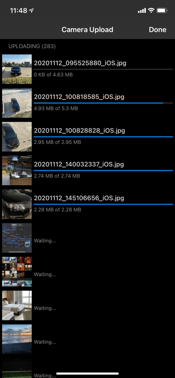 uploading photos to onedrive on iPhone